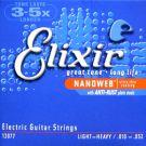 Elixir 12077 NanoWeb Light 10-52, struny do git. elektrycznej