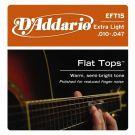 D'Addario EFT 15, struny do git. akustycznej