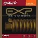 D'Addario EXP 10, struny do git. akustycznej