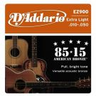 D'Addario EZ 900, struny do git. akustycznej