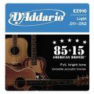 D'Addario EZ 910, struny do git. akustycznej