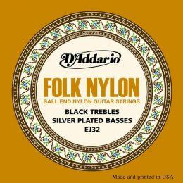D'Addario EJ 32, struny folkowe do git. klasycznej