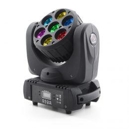 Flash- Butrym LED GŁOWICA RUCHOMA BEAM 7x15W RGBW 4w1 OSRAM 8° - 7 Sekcji    -  MADE IN POLAND !!!