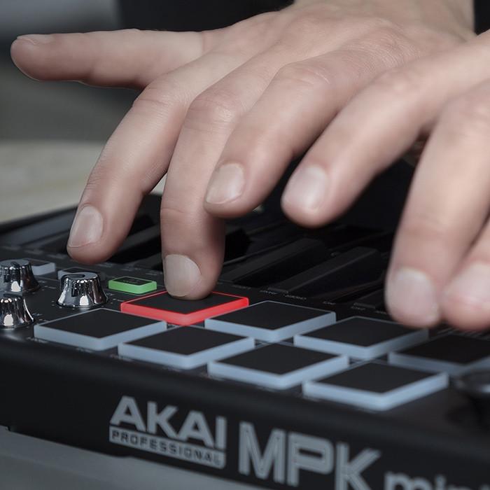 AKAI MPK mini II BLACK, klawiatura sterująca