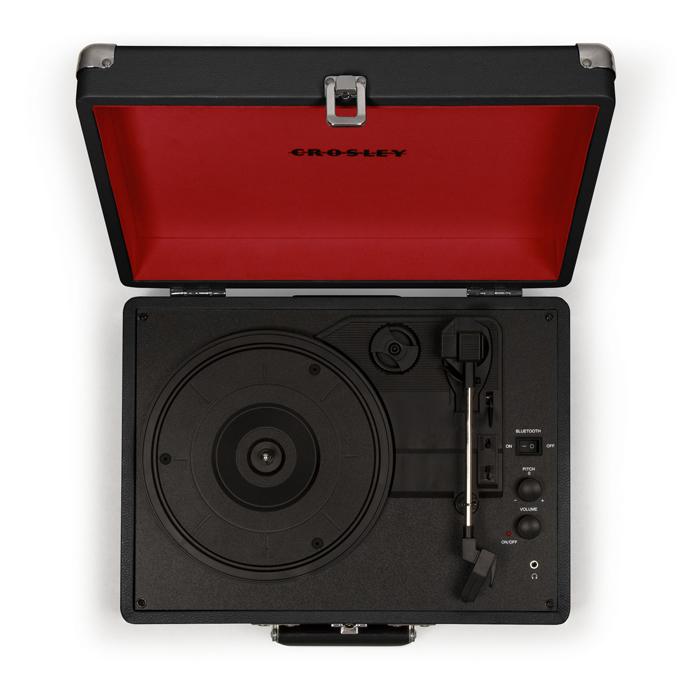CROSLEY Cruiser Deluxe Black – Przenośny gramofon