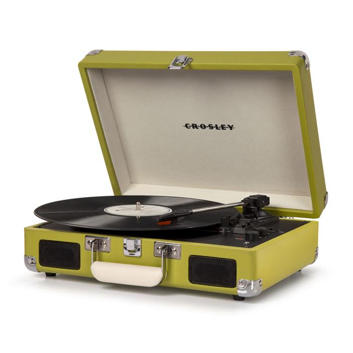 CROSLEY Cruiser Deluxe Green – Przenośny gramofon