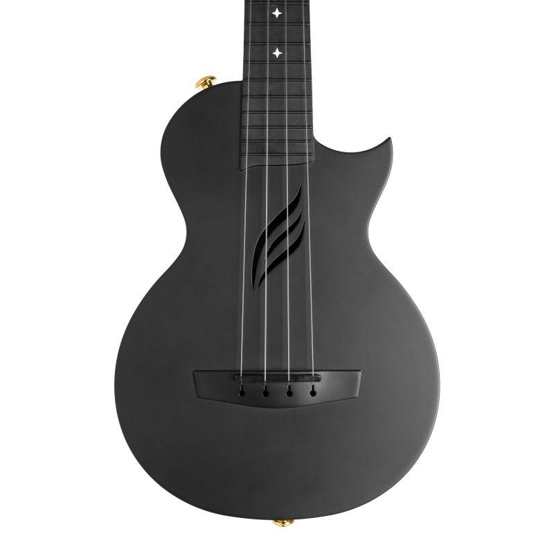Cascha Carbon Fibre Ukulele Set Black