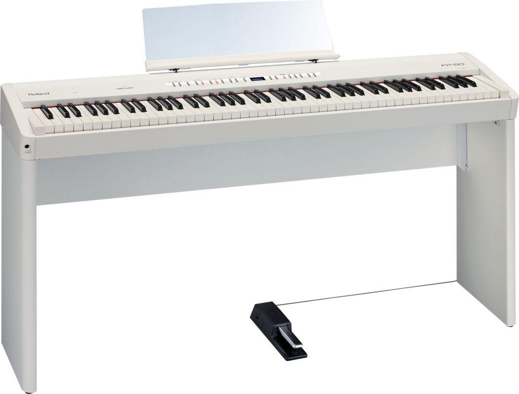 Roland FP-50 WH, przenośne pianino cyfrowe