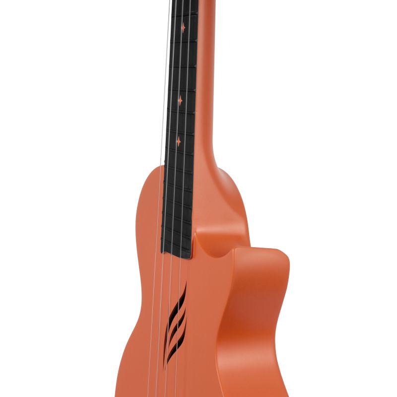 Cascha Carbon Fibre Ukulele Set Orange